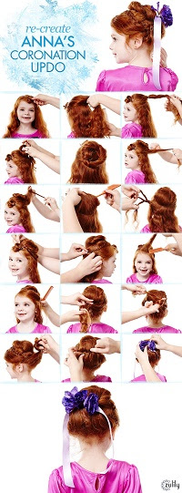 Guide to Anna's Coronation Updo - My Kids LOVE Frozen, Do Yours? - www.MePlus3Today.com #zulily