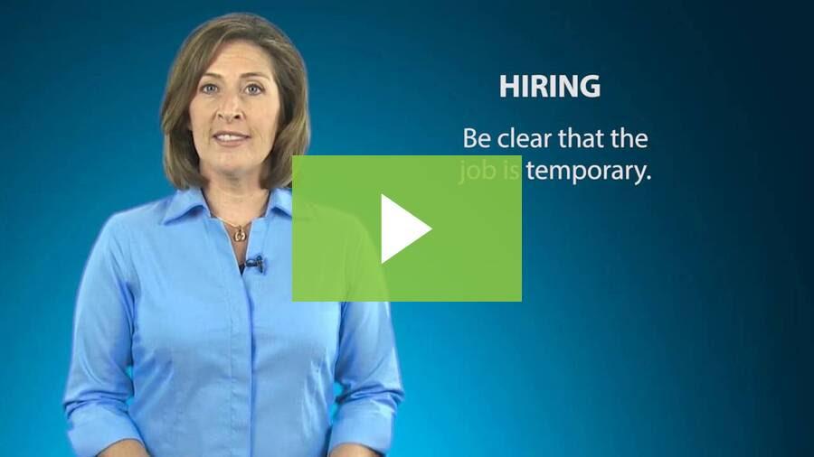 Hiring & Managing Seasonal Employees