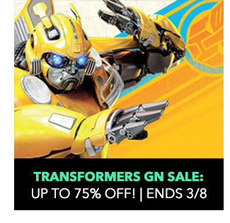 Transformers Graphic Novels Sale: up to 75% off! Sale ends 3/8.