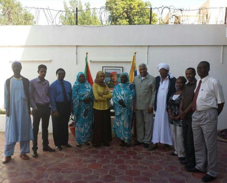 Organizaciones sociales sudanesas se movilizaron en apoyo a la Revolución Bolivariana