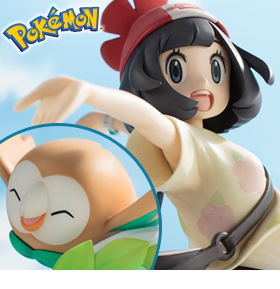 Pokemon ArtFX J Selene with Rowlet Statue