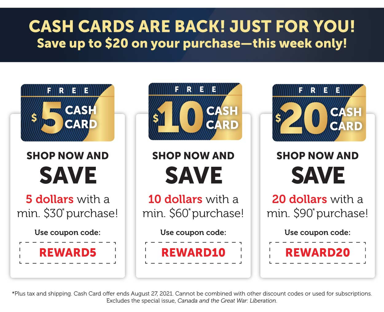 Cash Cards are back!