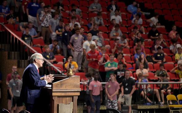 Governor DeWine speaks to Buckeye Boys State