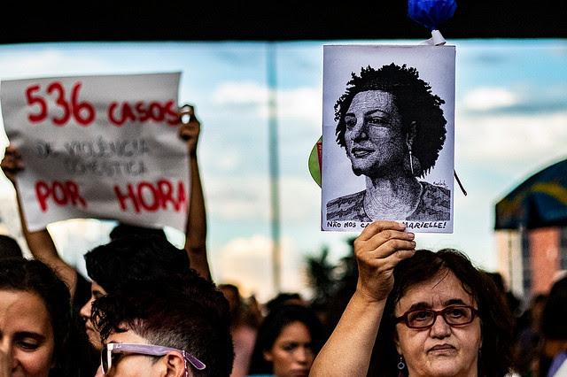 La manifestación en el centro de la ciudad de São Paulo reunió cerca de 50 mil personas este viernes (08) - Créditos: Marcelo Cruz