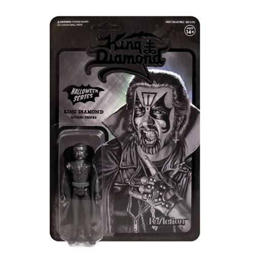 Image of King Diamond Black 3 3/4-Inch ReAction Figure - APRIL 2020