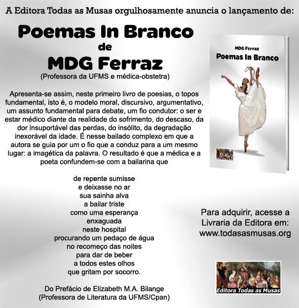 "Lançamento do livro ""Poemas In Branco"" – Editora Todas as Musas"