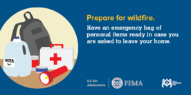 Prepare for Wildfires with an Emergency Kit Graphic