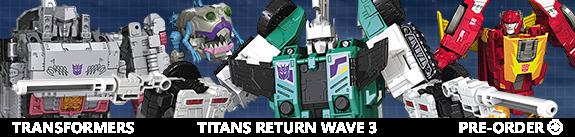 NEW TRANSFORMERS TITANS RETURN