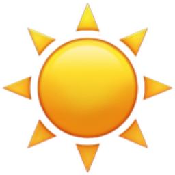 Sun Emoji (U+2600, U+FE0F)