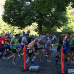 The first wave of runners at this morning's Paine to Pain.