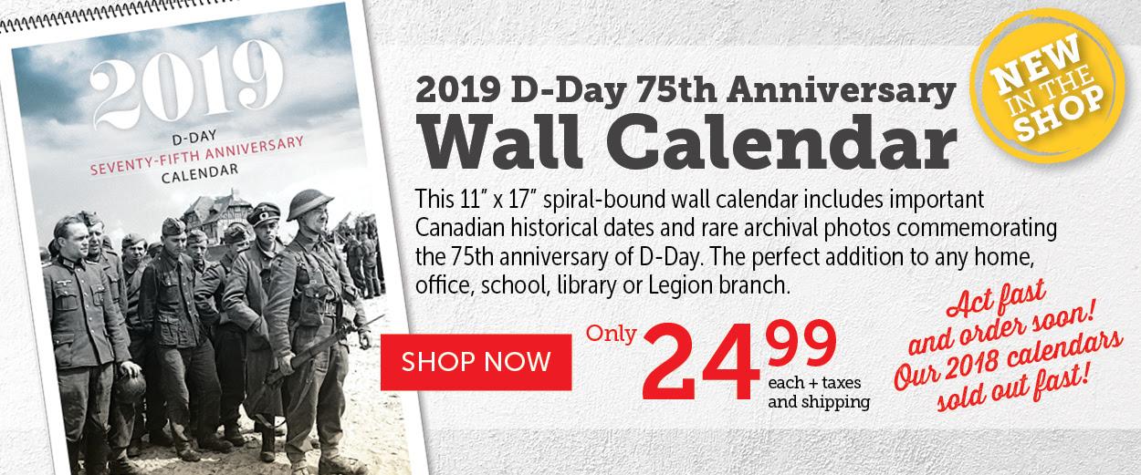 D-Day 75th Anniversary Wall Calendar | 24.99