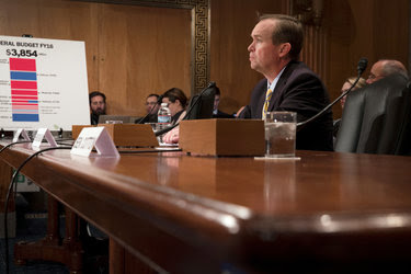 Representative Mick Mulvaney of South Carolina, President Trump's choice to be White House budget director, during a confirmation hearing before the Senate Homeland Security and Governmental Affairs Committee on Tuesday.