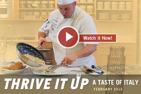 Thrive it Up | A Taste of Italy