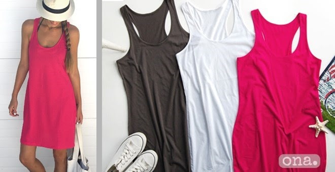 HOT! Racerback Tank Dress!