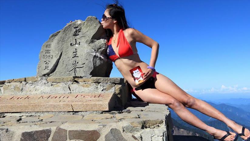 Muere 'la escaladora del bikini' tras precipitarse por una montaña de Taiwán