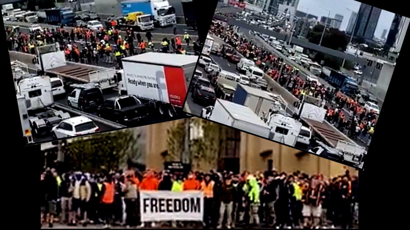 20,000 Shut Down Melbourne Highway In Massive Lockdown Protest Blockade-1320x743