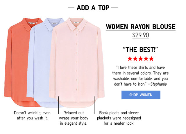 WOMEN RAYON BLOUSE - SHOP NOW
