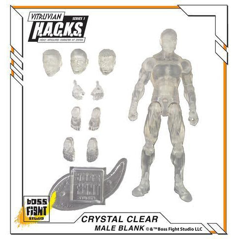 Image of Vitruvian H.A.C.K.S. Skeleton Blank - Male Body - Crystal Clear