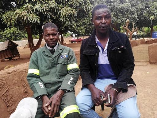The children's uncles Timothy Masakona and Edward Masithi.