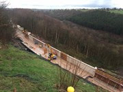 The 6000 tonne concrete shelf under construction at Eden Brows