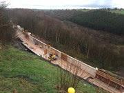 The 6000 tonne concrete shelf under construction at Eden Brows