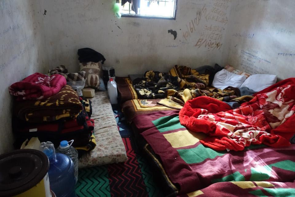 Unas de las habitaciones del centro de detención al oeste de Misrata.