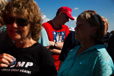 Before the Trump rally in West Bend on Tuesday. Some in Milwaukee were skeptical of the Trump focus on the suburbs.