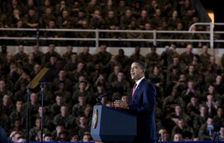 Barack Obama Addresses The Troops - Public Domain