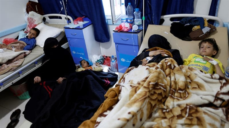 There have been 270,000 suspected cases of cholera in Yemen [Khaled Abdullah/Reuters]