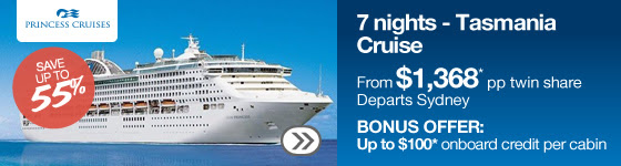 Save up to 55% off top cruise sales  + up to $200 onboard credit at Webjet.com.au