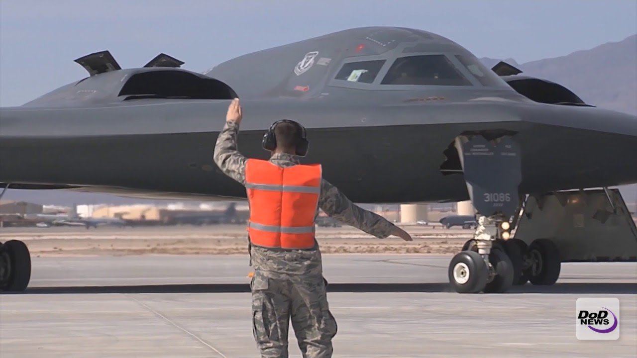 B-2 Stealth Bomber Takes Off