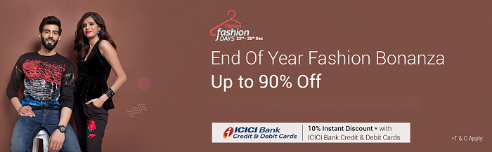 Flipkart fashion days offer