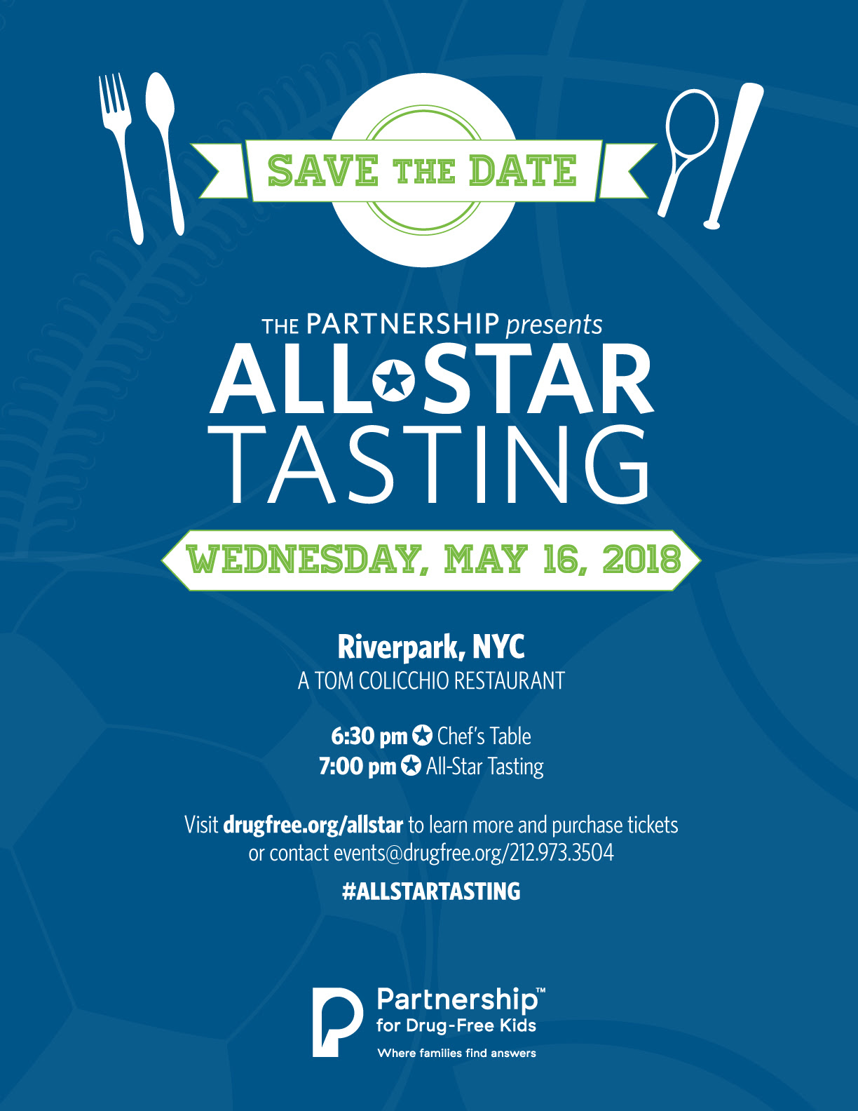 Save-the-Date: The Partnership Presents All-Star Tasting - May 16th, 2018
