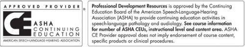 ASHA Approved CEUs