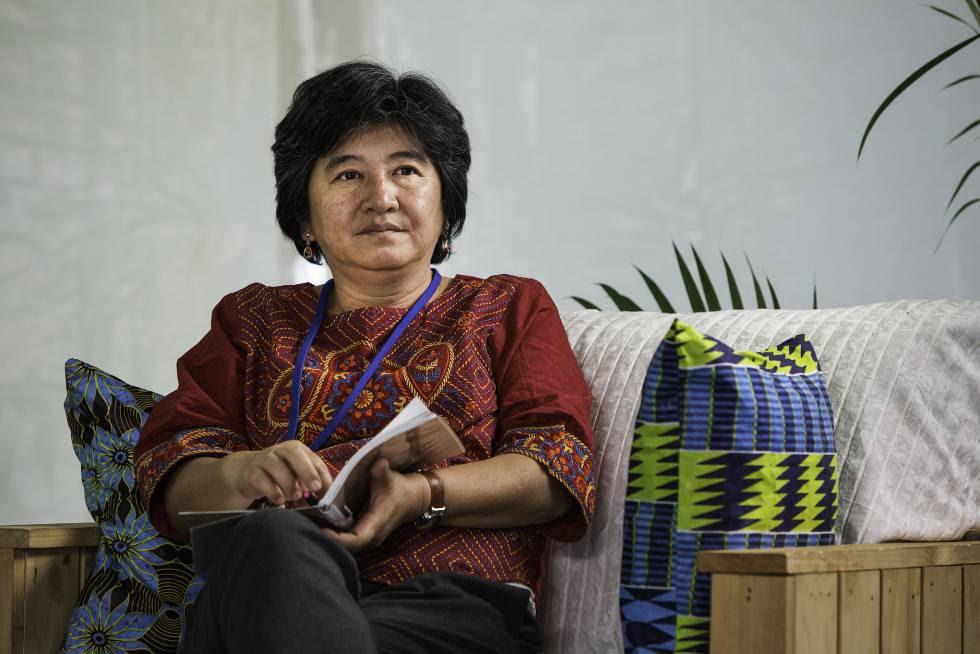 La activista filipina Joan Carling, coordinadora del Grupo principal de los pueblos indígenas para el desarrollo sostenible, en la Asamblea de Naciones Unidas sobre Medioambiente, en Nairobi.