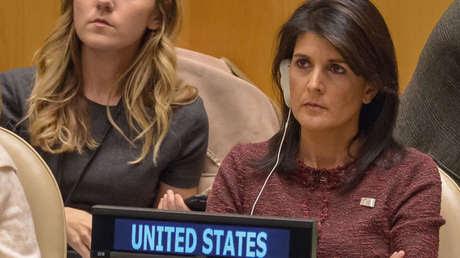 La embajadora de EE.UU ante la ONU, Nikki Haley.