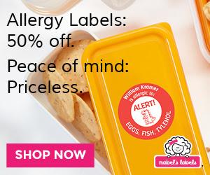 Get 50% Off Allergy Labels at Mabels Labels