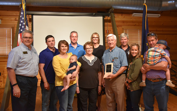 Stan Poe Family, recipient of the 2019 AgriVision Award.
