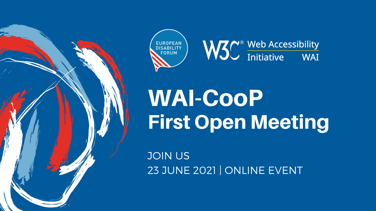 Banner with EDF and W3C logos