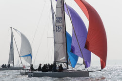 J/70s sailing Warsash