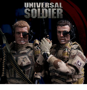 1/6 UNIVERSAL SOLDIER ANDREW SCOTT AND LUC DEVERAUX FIGURES