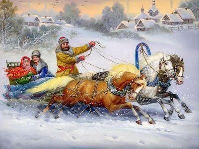 Тройка (Федоскинская миниатюра). Источник - puzzleit.ru