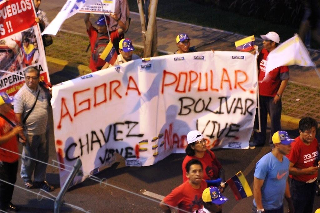 En Perú, movilización de solidaridad con la Venezuela bolivariana