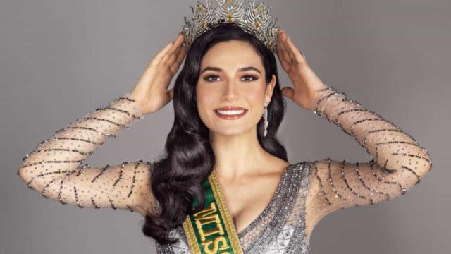 'Estou feliz', Júlia Gama consola fãs após segundo lugar no Miss Universo