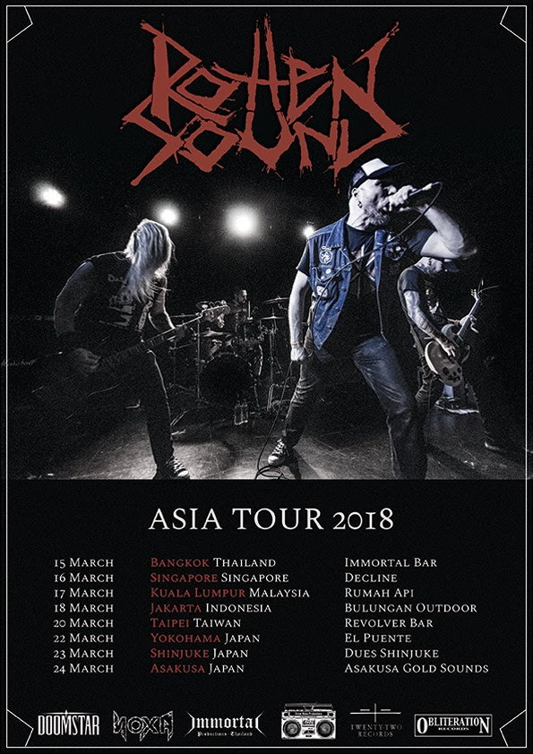 ROTTEN SOUND poster Asia 2018