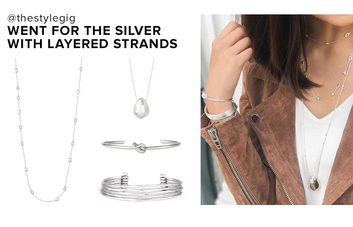 Layer silver strands