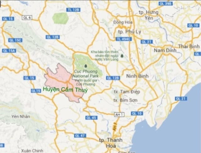 Bản đồ huyện Cẩm Thủy