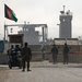 Afghan National Army soldiers stand guard atBagram prison north of Kabul on Thursday.