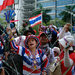 Protesters demanded Thai Prime Minister Yingluck Shinawatra step down on Wednesday.