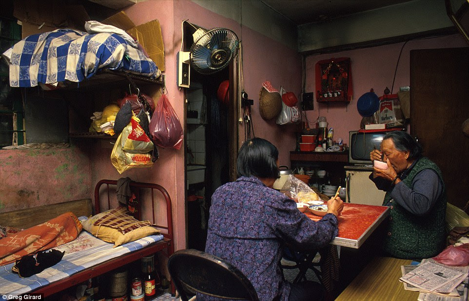 Law Yu Yi, aged 90, lived in a small and exceptionally humid third-floor flat off Lung Chun First Alley with her 68-year-old daughter-in-law